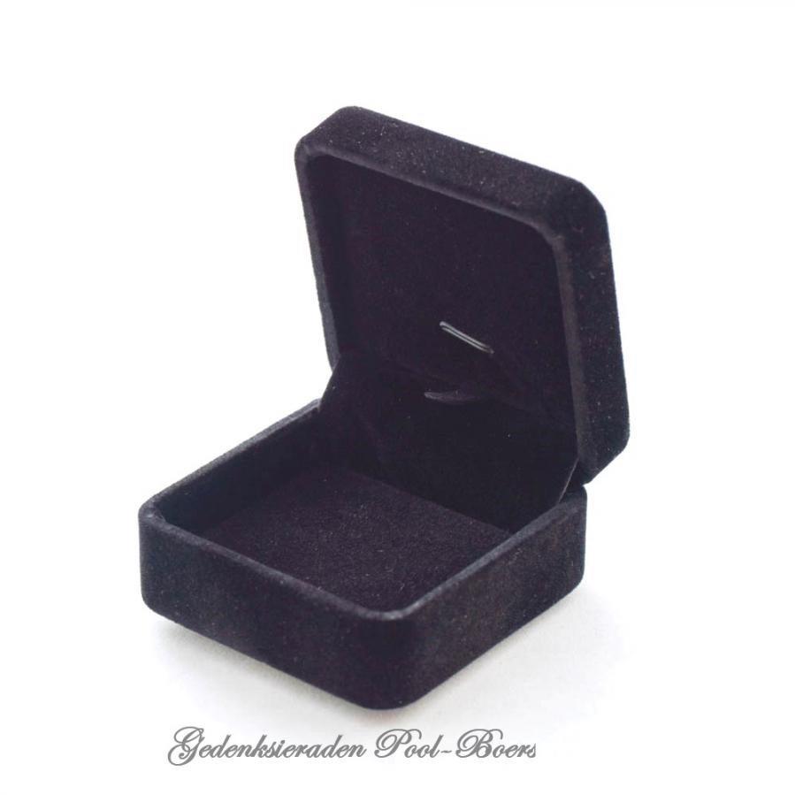 Geschenkdoos zwart fluweel