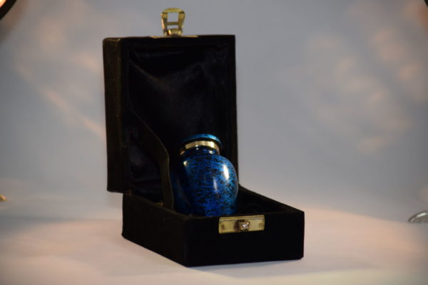 Mini Urn – Messing metallic blue