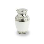 Mini urn, Mini urn wit parelmoer, Mini urnen