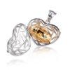 Zilveren ashanger met gouden kern