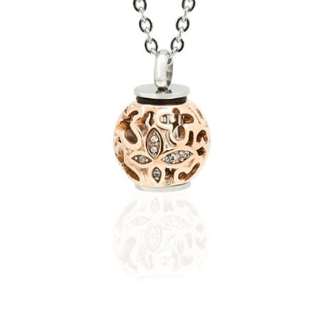 ashanger, always in my heart, curly ball rosé gold