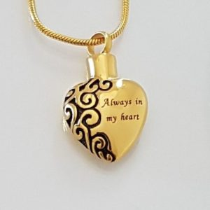 ashanger, always in my heart goldtone