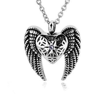 ashanger engelenvleugel, zilverkleurig