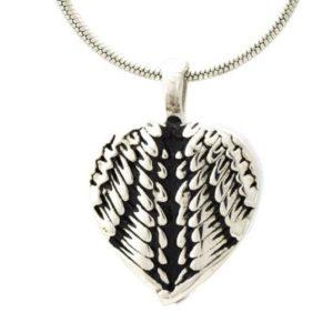 ashanger engelenvleugel zilverkleurig