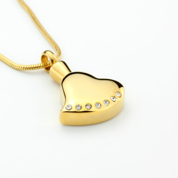 ashanger golden heart with Zirkonia