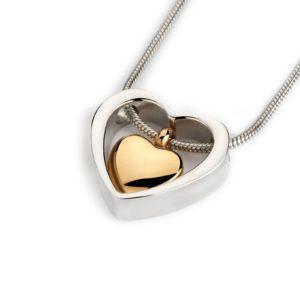 ashanger gouden hart in hart