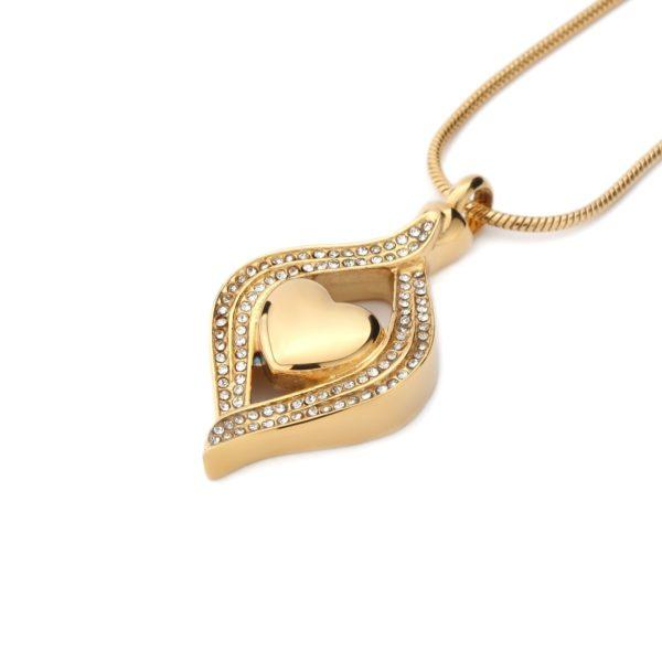 ashanger gouden heart, frame of eye shape