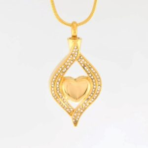 ashanger gouden heart, frame of eye shape