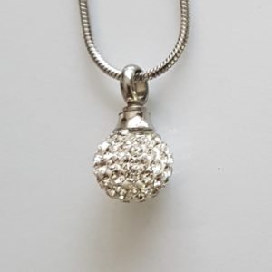 ashanger, mini memorial ball silver