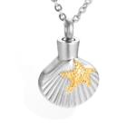 ashanger, schelp met gouden ster