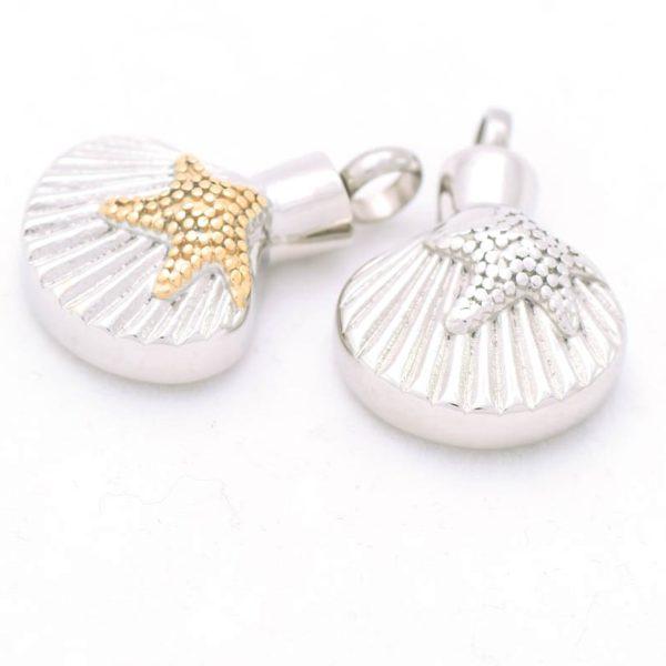ashanger, schelp met zilveren ster