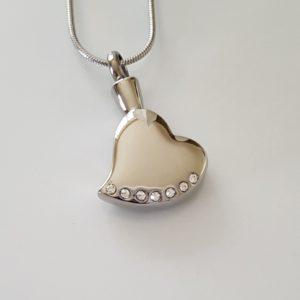 ashanger, silver heart with Zirkonia