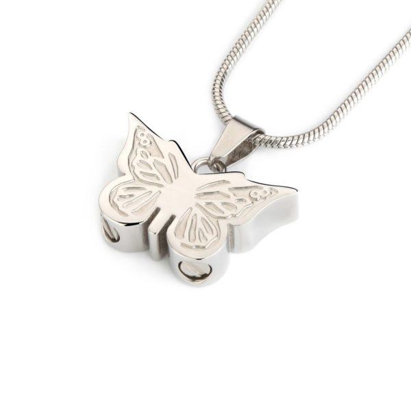 ashanger, zilveren Butterfly