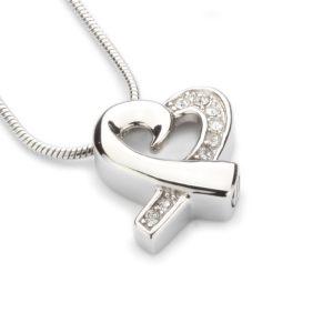 ashanger zilveren hart zirkonia stone