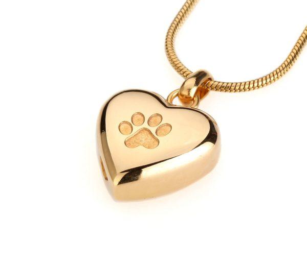 dieren ashanger goudkleurige hondenpoot