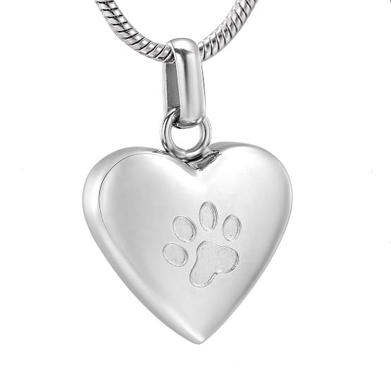 dieren ashanger zilverkleurige hondenpoot