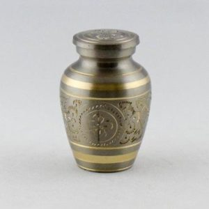 mini urn messing zilver goud