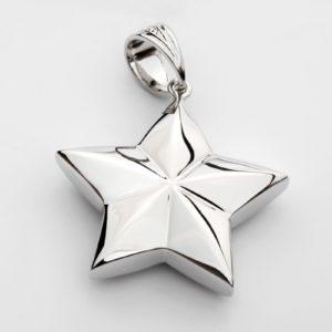 zilveren ashanger, exclusive silver star