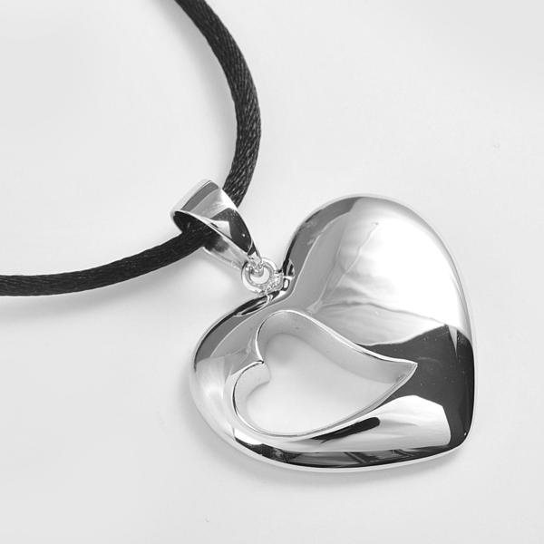zilveren ashanger, hart in hart