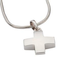 zilveren ashanger, kruis