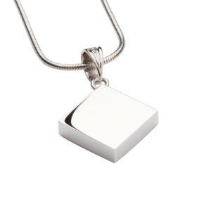 zilveren ashanger, zilveren vierkantje