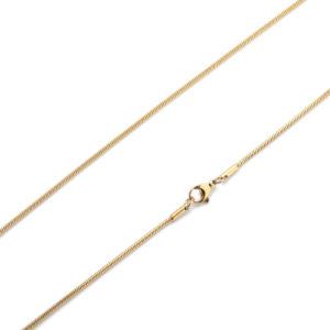 Edelstalen RVS ketting, slang goudkleurig
