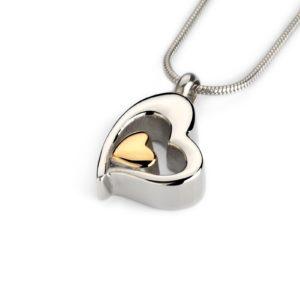 ashanger heart with golden heart