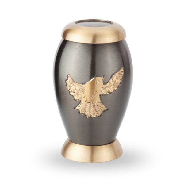 mini urn gouden vogel