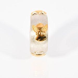 zilveren-asbedel-met-gouden-engeltjes