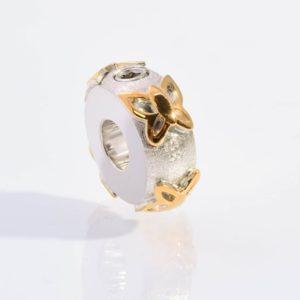 zilveren-asbedel-met-gouden-vlinders
