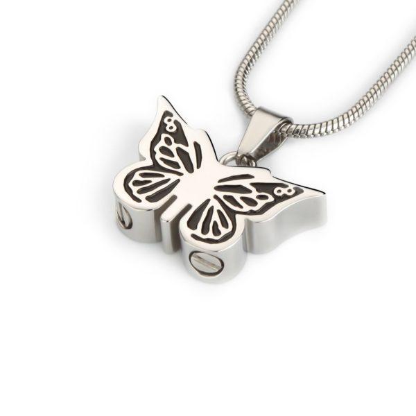 ashanger, vlinder zilver zwart
