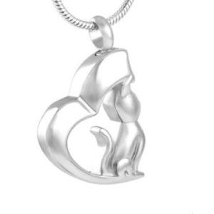 dieren ashanger kat-poes zilver