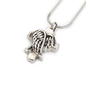 ashanger kruis met engelen vleugels