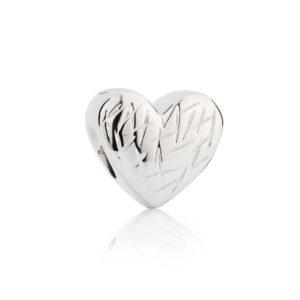 zilveren asbedel, hart met herinneringen