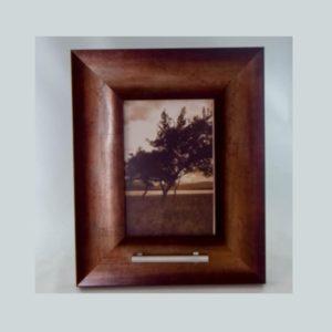 fotolijst urn, brons zilver
