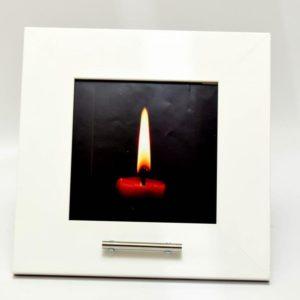 fotolijst urn, wit mat