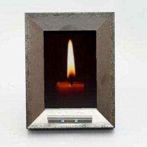 fotolijst urn, zilver