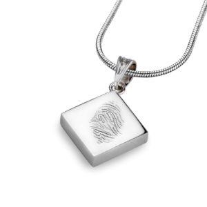 Fingerprint Hanger vierkantje