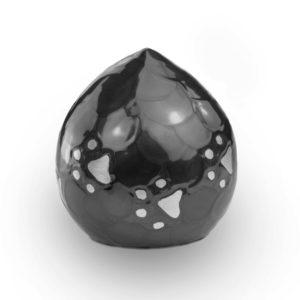 Messing Lovedrop Dierenurn parelmoer zwart