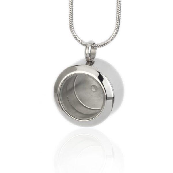 ashanger Medaillon glanzend zilver