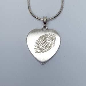 Fingerprint Hanger Hartvormig Groot