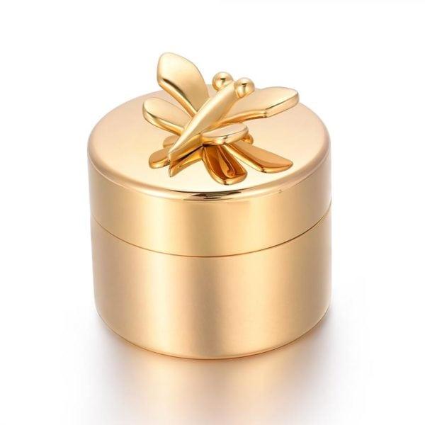 mini urn goud met Vlinder