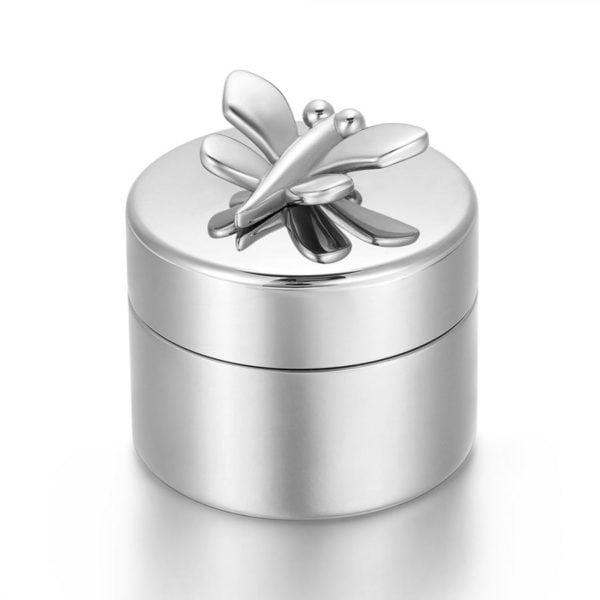 mini urn vlinder zilverkleurig