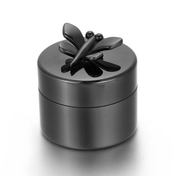 mini urn zwart met Vlinder