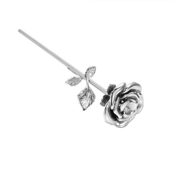 mini urn roos zilverkleurig