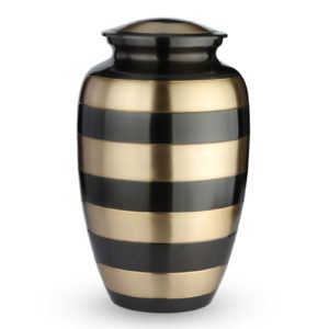 Grote Urn Design Goud en zwartkleurig