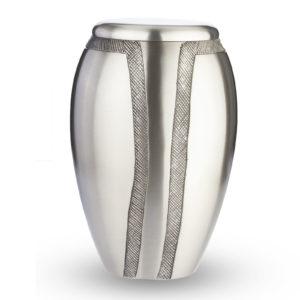Grote Urn Design Zilverkleurig