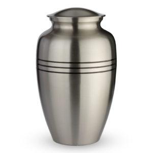Grote Urn Elements Zilverkleurig