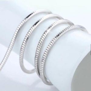 zilveren collier slang