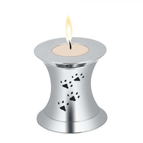 Mini urn dieren zilverkleurig